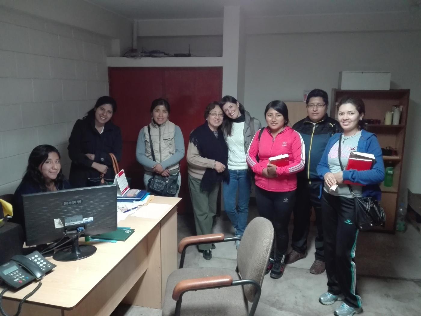 Primer grupo que participa en el Taller de Oración 2017