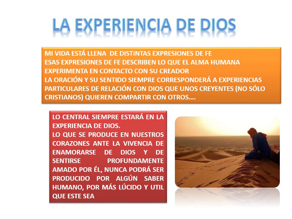 EXPERIENICI DE DIOS